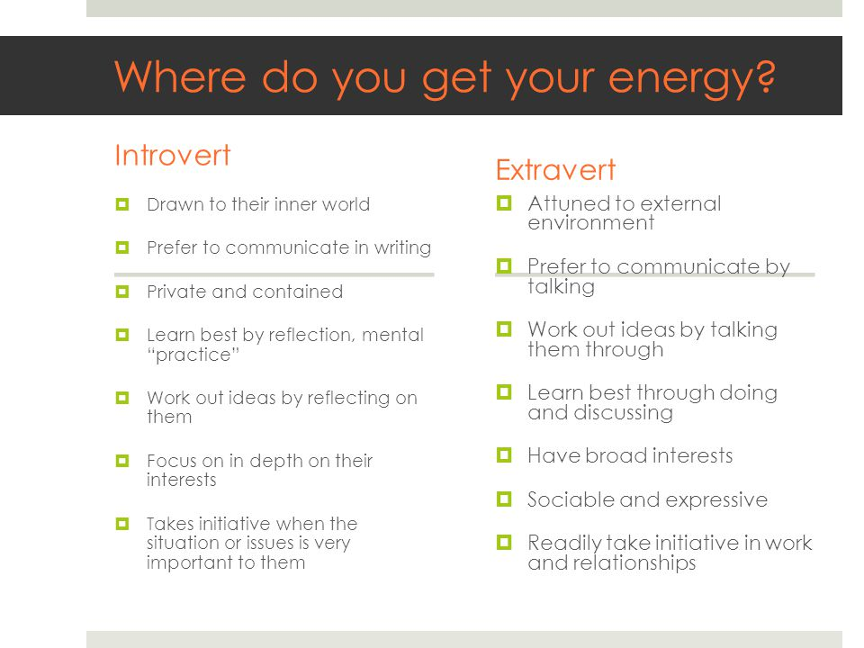 Where do you get your energy.