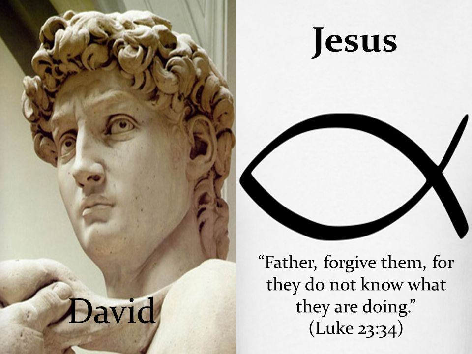 "David Jesus ""Father, forgive them, for they do not know what they are doing."" (Luke 23:34)"