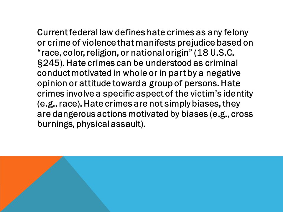EFFECTS ON VICTIMS: While violent crime victimization carries risk for psychological distress, victims of violent hate crimes may suffer from more psychological distress (e.g., depression, stress, anxiety, anger) than victims of other comparable violent crimes (Herek, Gillis, & Cogan, 1999; McDevitt, Balboni, Garcia, & Gu, 2001).