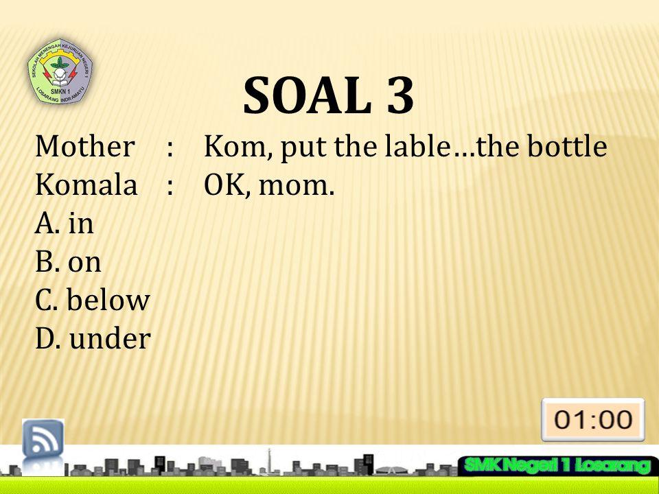 SOAL 14 Choose the error word or phrase of the sentences .
