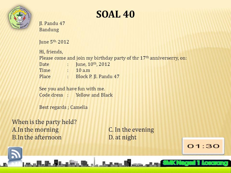 SOAL 40 Jl.