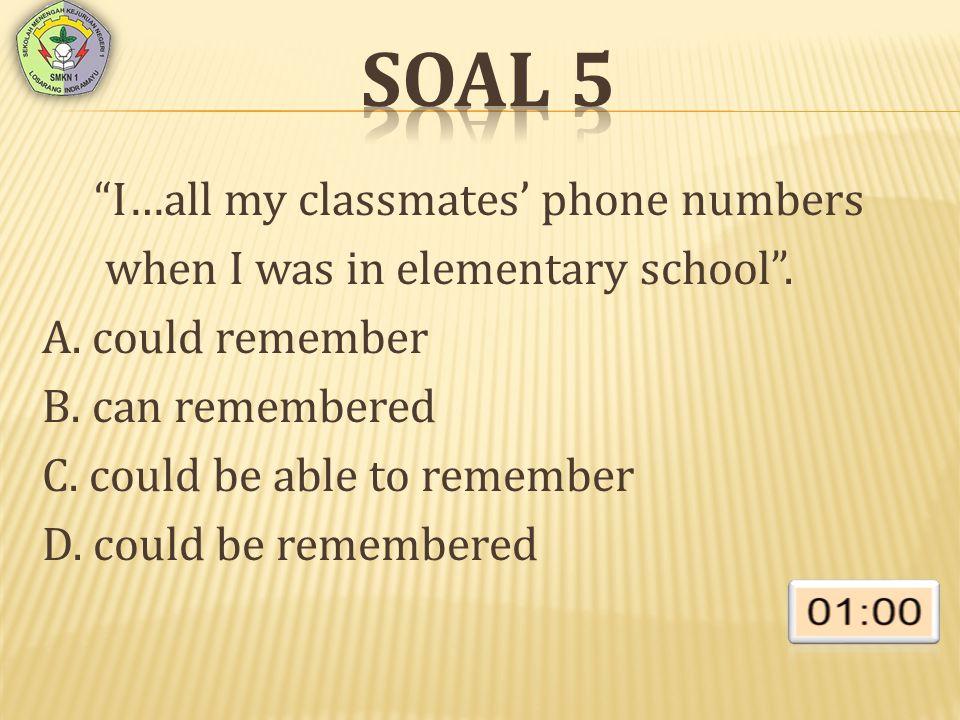 SOAL 16 Choose the error word or phrase of the sentences.