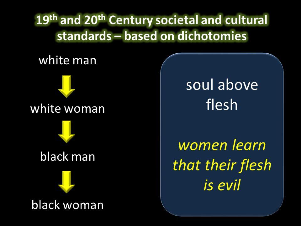 white man white woman black man black woman soul above flesh women learn that their flesh is evil soul above flesh women learn that their flesh is evi