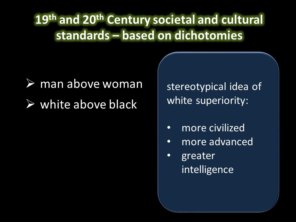  man above woman  white above black  mind above body  soul above flesh stereotypical idea of mind over matter: thought supersedes action mental is superior to physical the brain controls the body stereotypical idea of mind over matter: thought supersedes action mental is superior to physical the brain controls the body