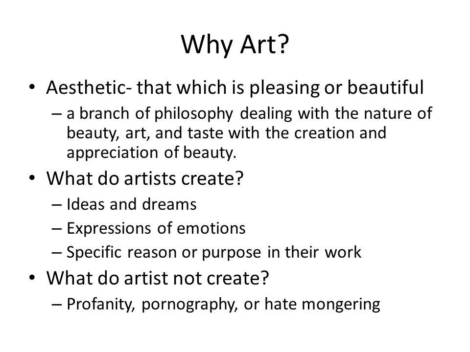 Why Art.