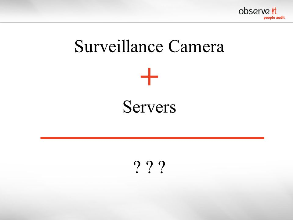 Surveillance Camera + Servers