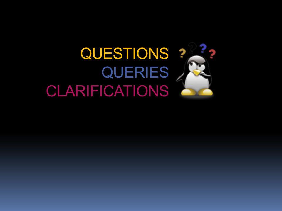 QUESTIONS QUERIES CLARIFICATIONS