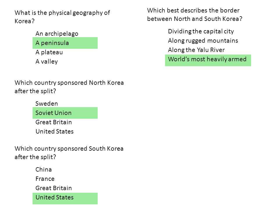 What is the physical geography of Korea.