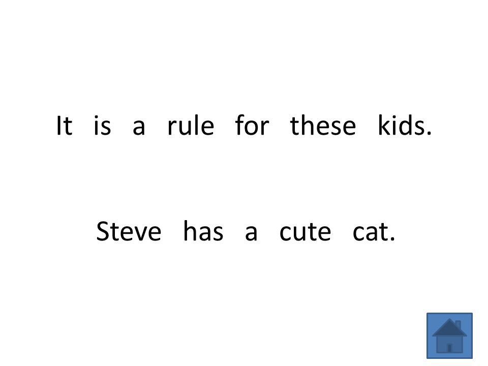 It is a rule for these kids. Steve has a cute cat.