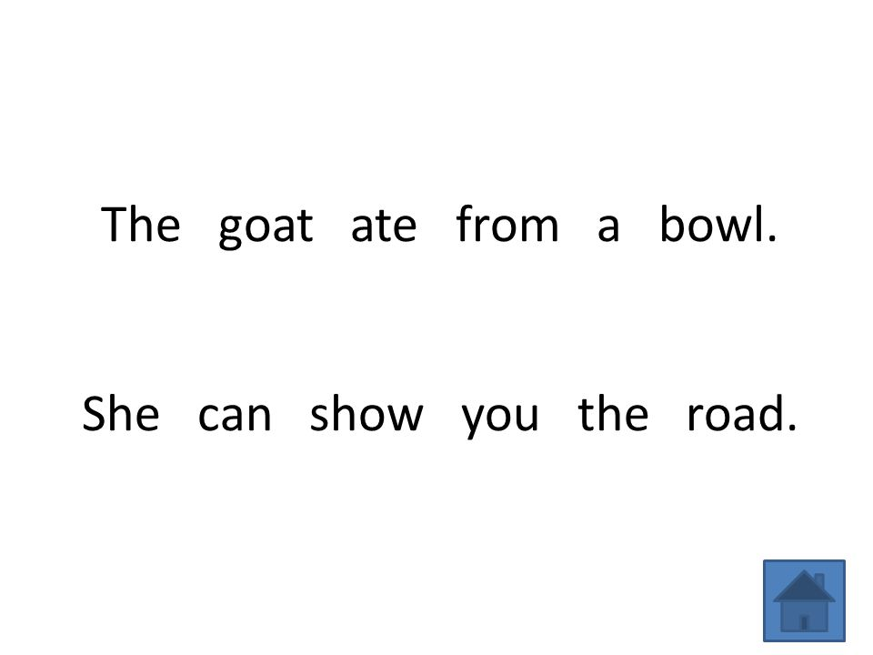 The goat ate from a bowl. She can show you the road.