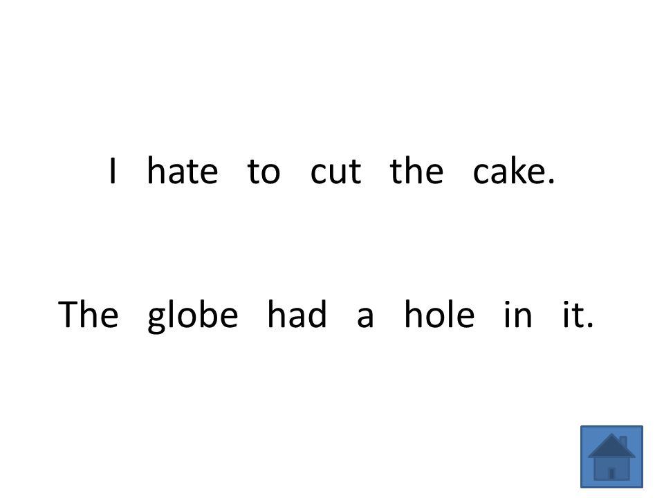 I hate to cut the cake. The globe had a hole in it.