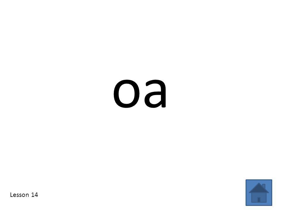 oa Lesson 14