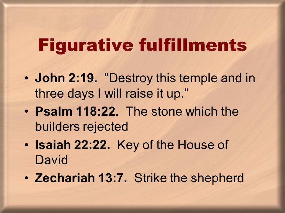 Figurative fulfillments John 2:19.