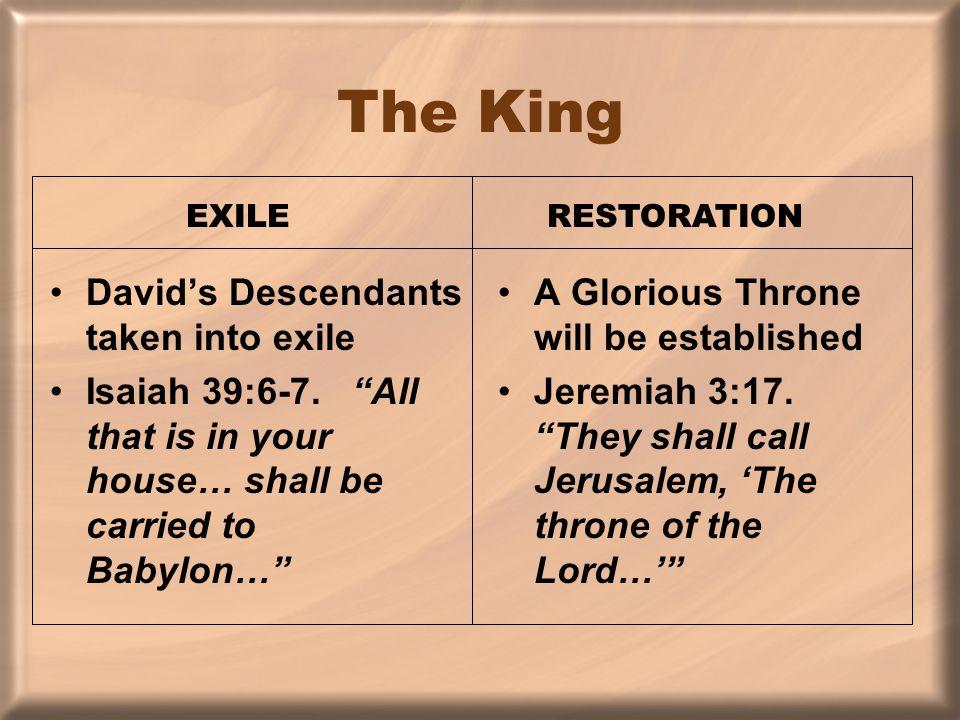 The King David's Descendants taken into exile Isaiah 39:6-7.