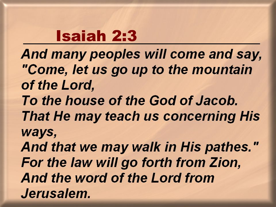 Isaiah 2:3