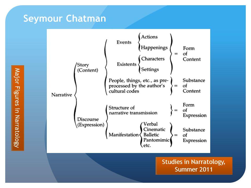 Studies in Narratology, Summer 2011 Seymour Chatman Major Figures in Narratology