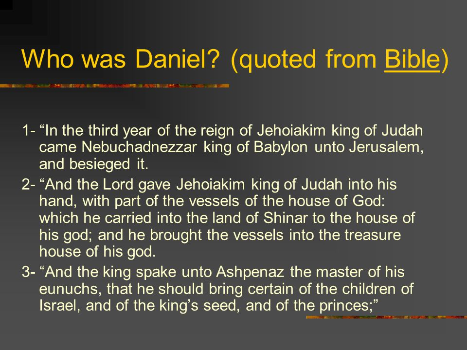 Daniel's vision continues… The thrones are cast down.