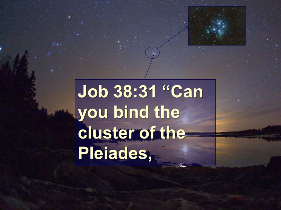 Job 38:31 Can you bind the cluster of the Pleiades,