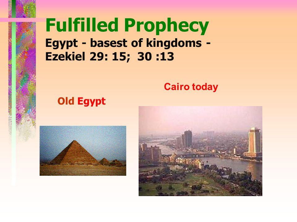 Fulfilled Prophecy Tyre - place to spread nets - Ezekiel 26: 4,5,12,14 Replica - 600 B.C. Today