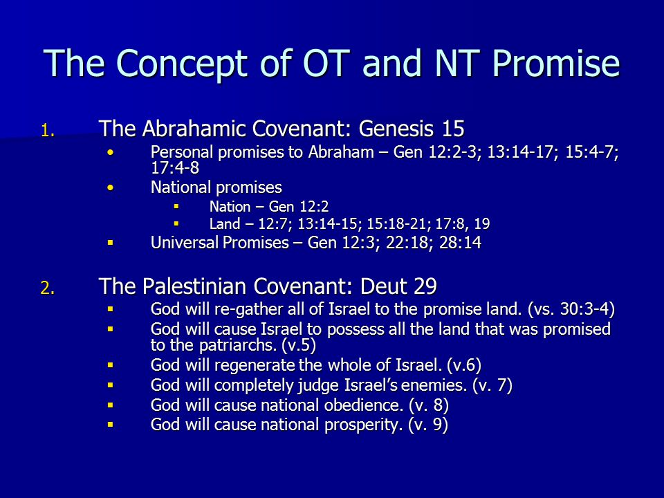 The Concept of OT and NT Promise 1.