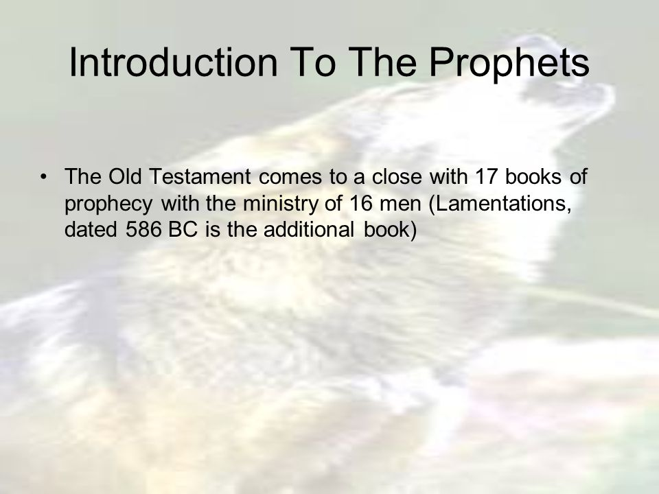 Reading The Prophets Today The message of the prophets is not limited to their own time or to their witness about Jesus, they spoke and wrote Gods word for His people then and now.