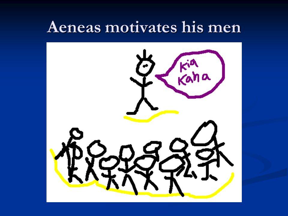 Aeneas sees queen Dido