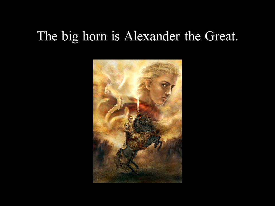 The big horn is Alexander the Great.