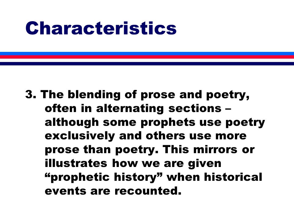 Characteristics 3.