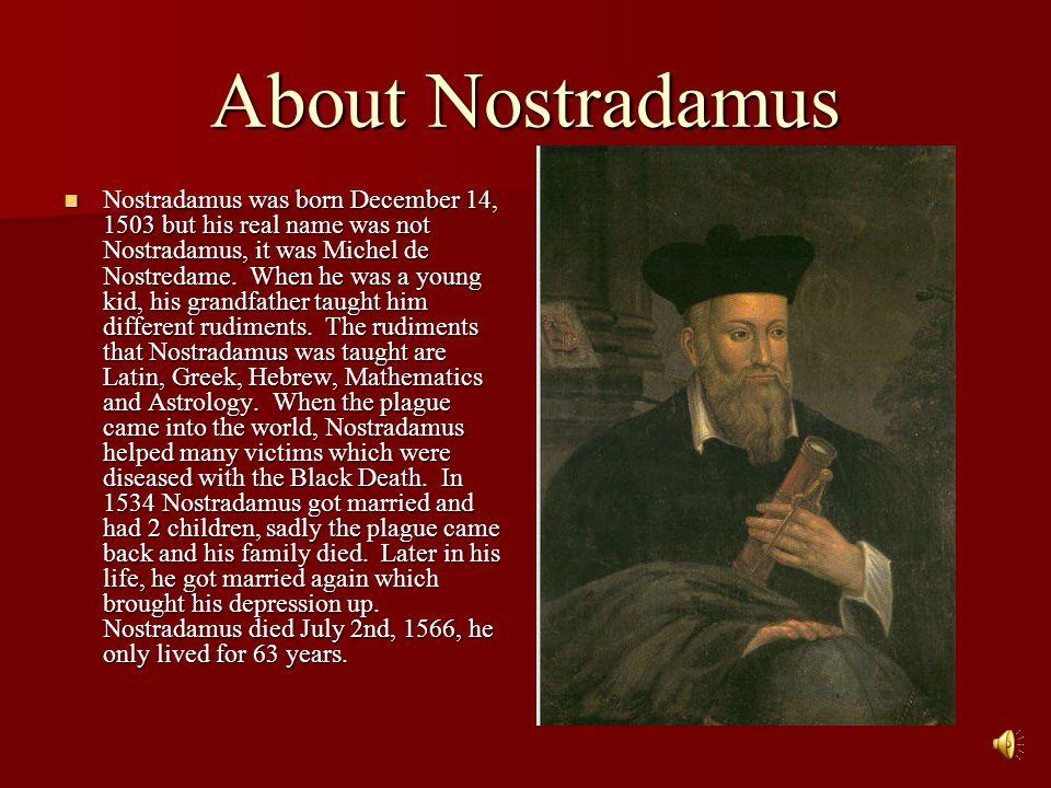 Nostradamus' Prophecies By Jacob Umbach