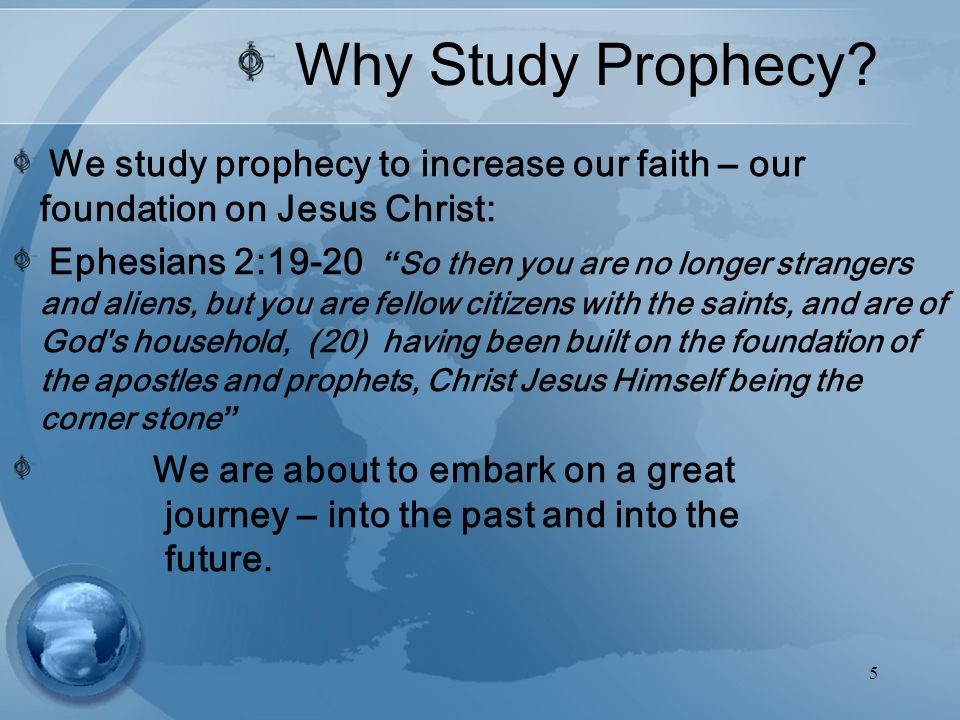 5 Why Study Prophecy.