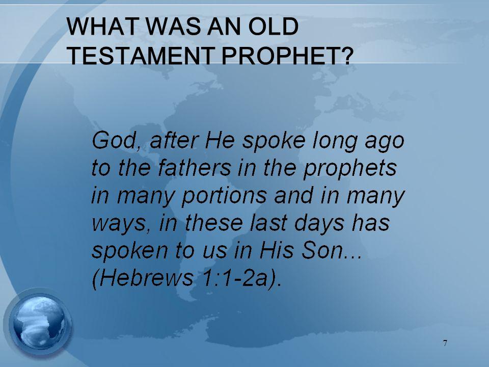 8 Old Testament Designations for Prophet Prophet Seer Servant Messenger Man of God