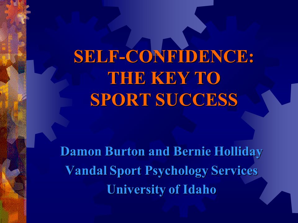 How do you maintain your self-confidence during competition?