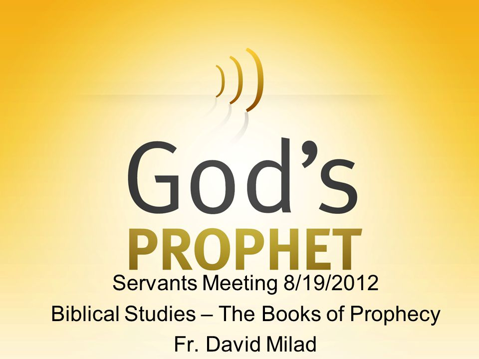 Post-Exilic Prophets Malachi God s people are lax in their duty to God.