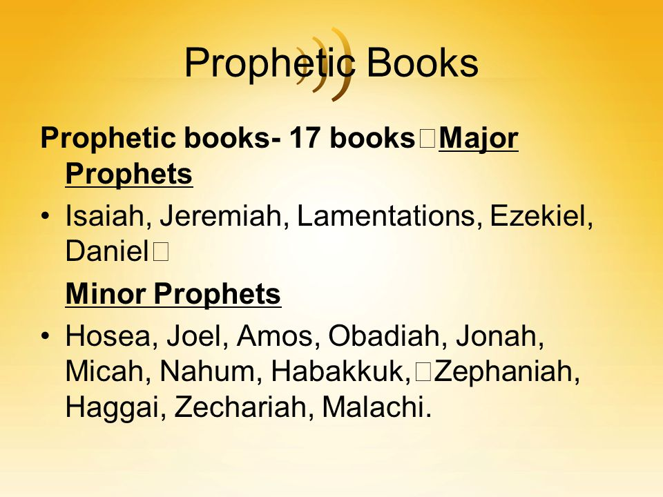 What made a prophet a prophet True prophets were those whose prophecies were later fulfilled False prophets spoke and nothing happened God spoke to me saying …just not enough