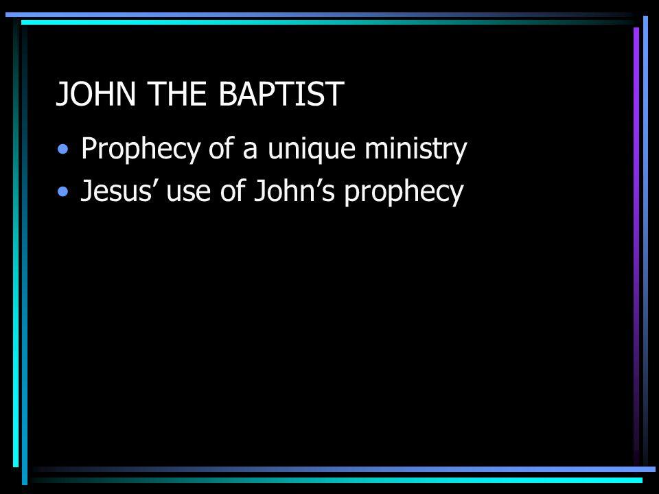 UNIQUE MINISTRY Matt 3:11; Mark 1:8, Luke 3:16; John 1:33 What is John saying.