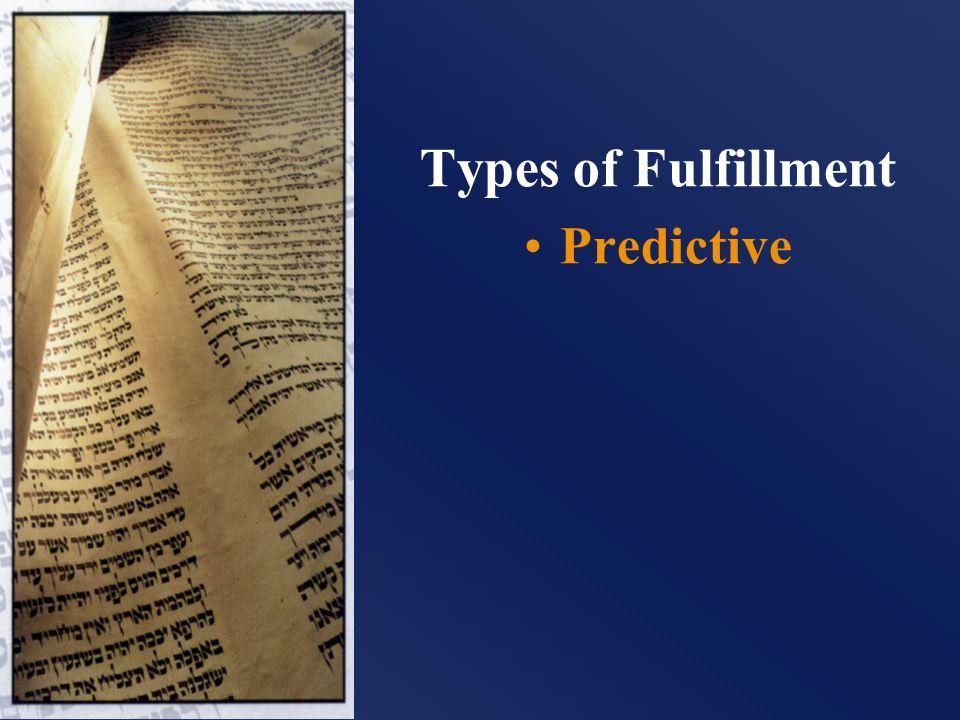 Types of Fulfillment Predictive