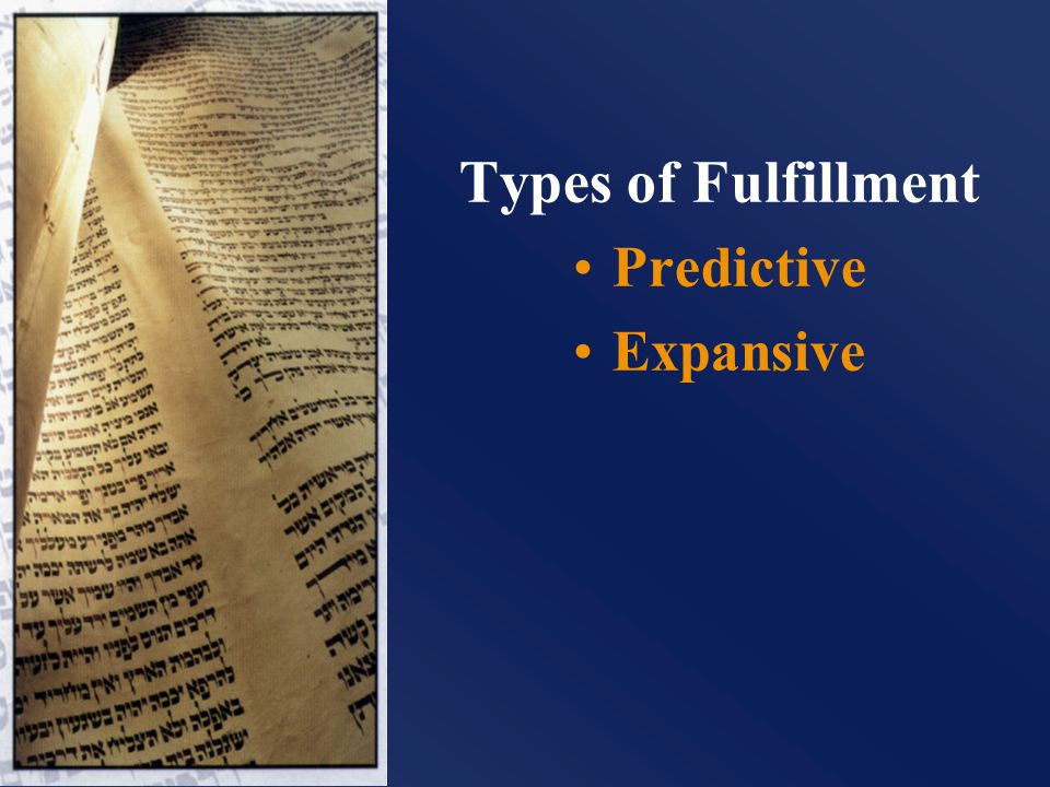 Types of Fulfillment Predictive Expansive