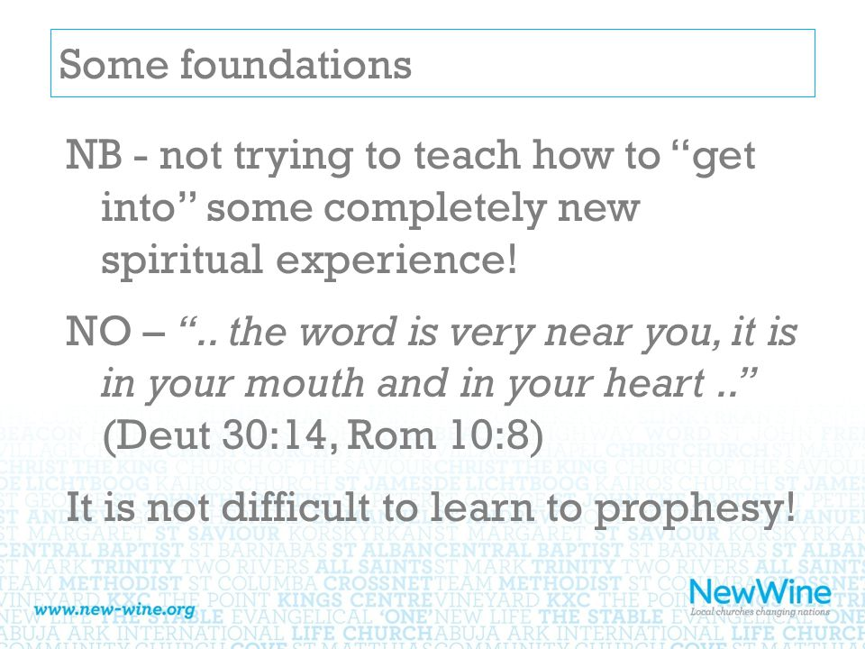 Some foundations NB - not trying to teach how to get into some completely new spiritual experience.