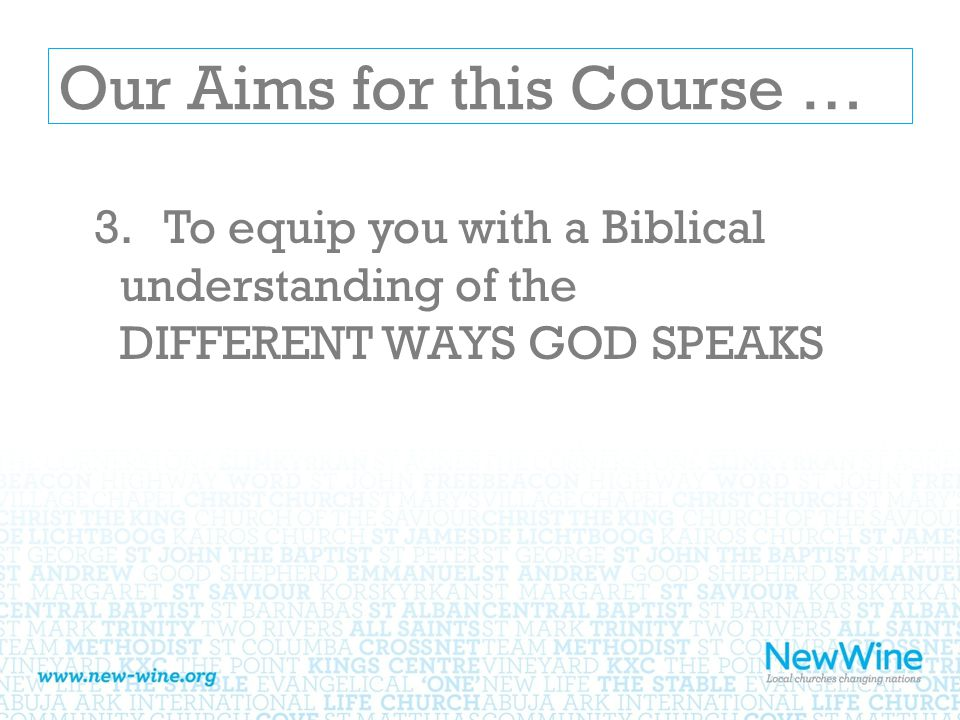 Our Aims for this Course … 4.