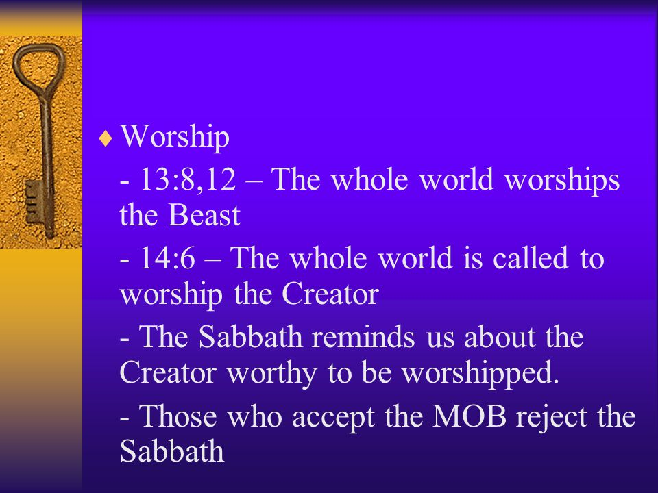 Wilful/knowledgeable opposition to Sabbath truth:  Commandments of God. - Devil targets those who obey God – 12:17 - Those who speak against the Beas