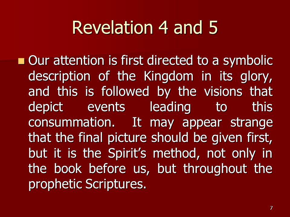 8 Revelation 6 – The Seals Judgments upon Pagan Rome.