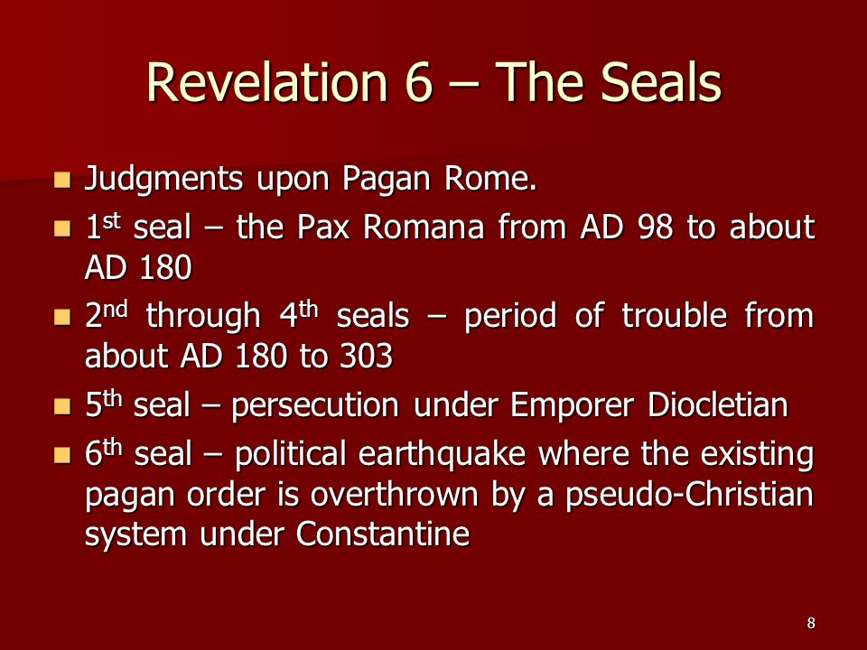 29 The Sixth Vial – Rev 16:12-16 12 The sixth angel poured out his vial on the great river, the Euphrates; and its water was dried up, so that the way would be prepared for the kings from the east.