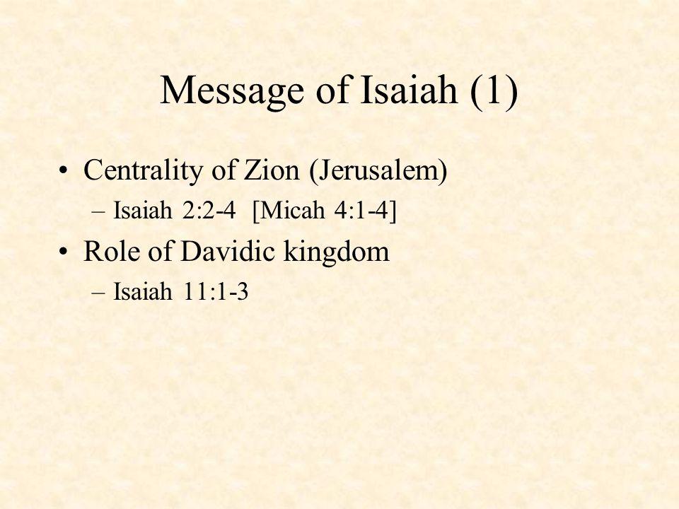 The Call of Isaiah The Vision –Isaiah 6 Other Calls –Amos 7:14-17 –Jeremiah 1:4-19 –Ezekiel 1:4 - 3:15 –Isaiah 40:1-8; 49:5-7
