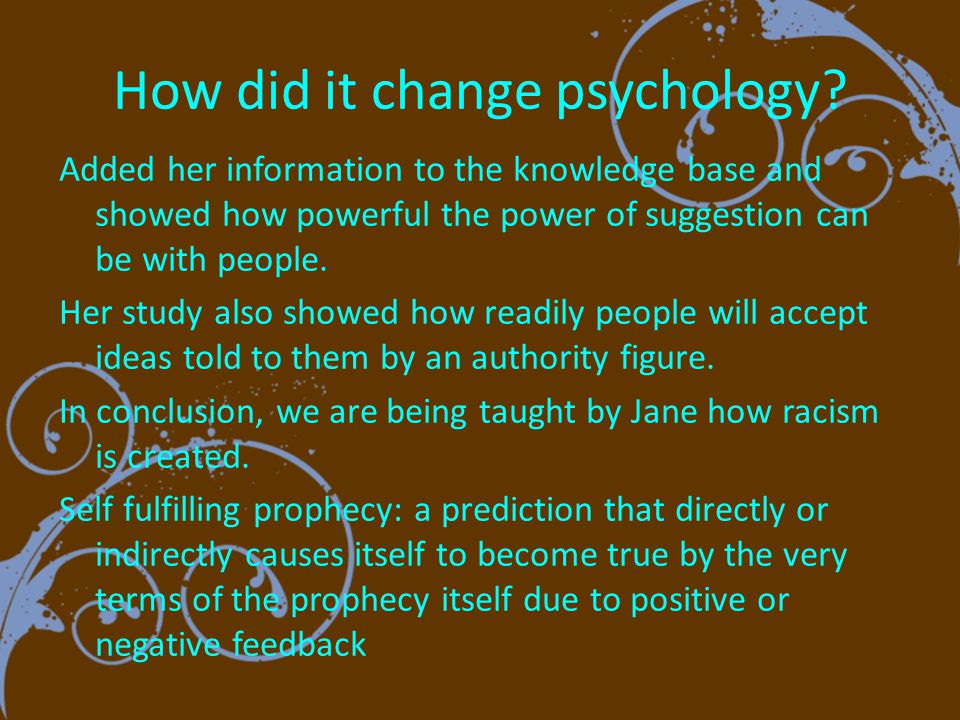 How did it change psychology.