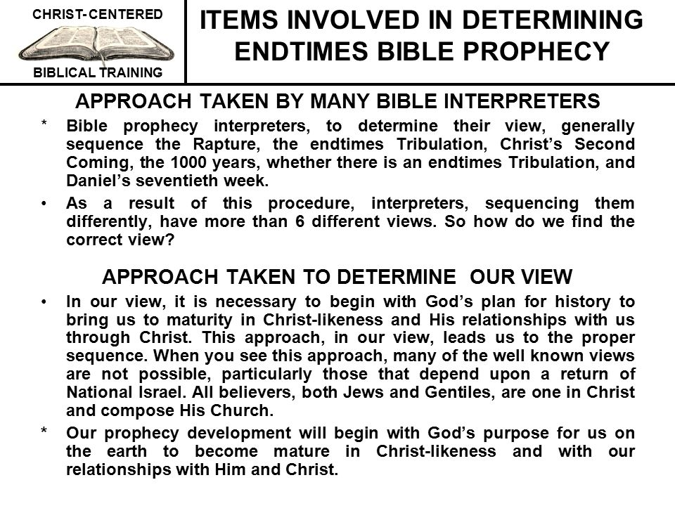 CHRIST- CENTERED BIBLICAL TRAINING WE ARE HERE TO BECOME MAXIMUMLY MATURE IN CHRIST-LIKENESS (THE CHURCH'S MAIN JOB IS TO MATURE HER PEOPLE.) Ephesians 4:11-13 - And He gave some as apostles, and some as prophets, and some as evangelists, and some as pastors and teachers, for the equipping of the saints for the work of service, to the building up of the body of Christ; until we all attain to the unity of the faith, and of the knowledge of the Son of God, to a mature man, to the measure of the stature which belongs to the fulness of Christ.