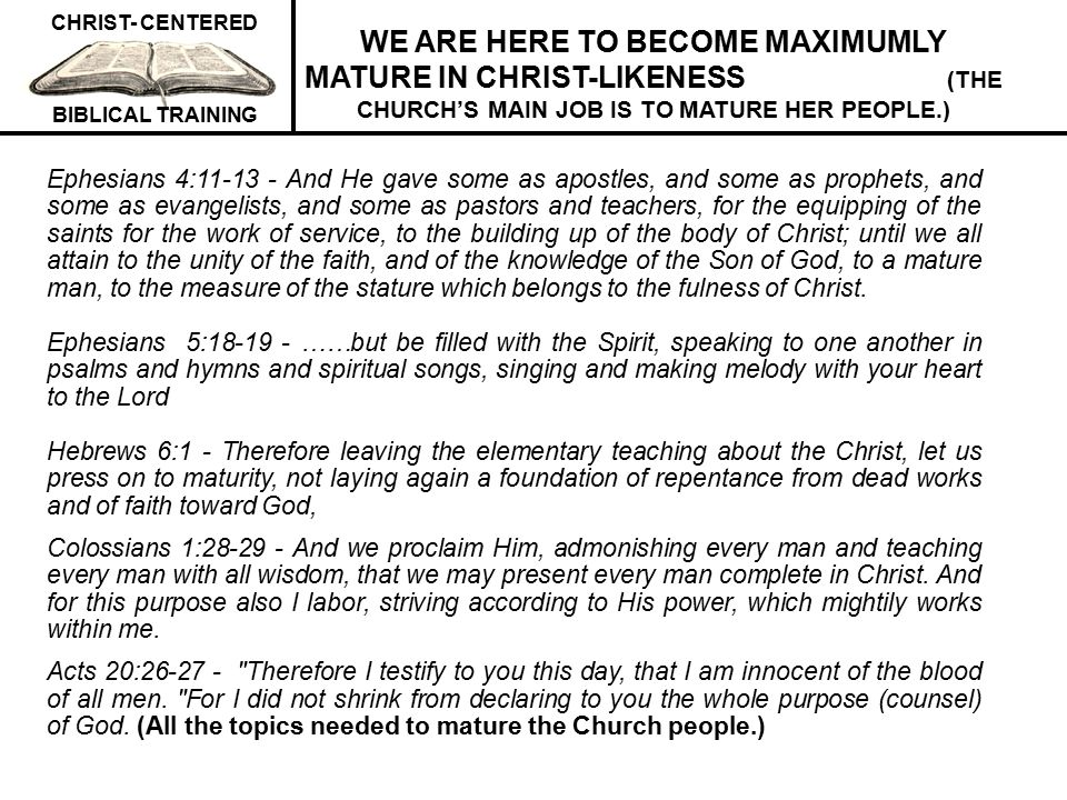 CHRIST- CENTERED BIBLICAL TRAINING SUMMARY OF OUR PROPHECY VIEW The Rapture of the Church occurs at Christ's Second Coming after the endtimes Tribulation at the last (seventh) trumpet.