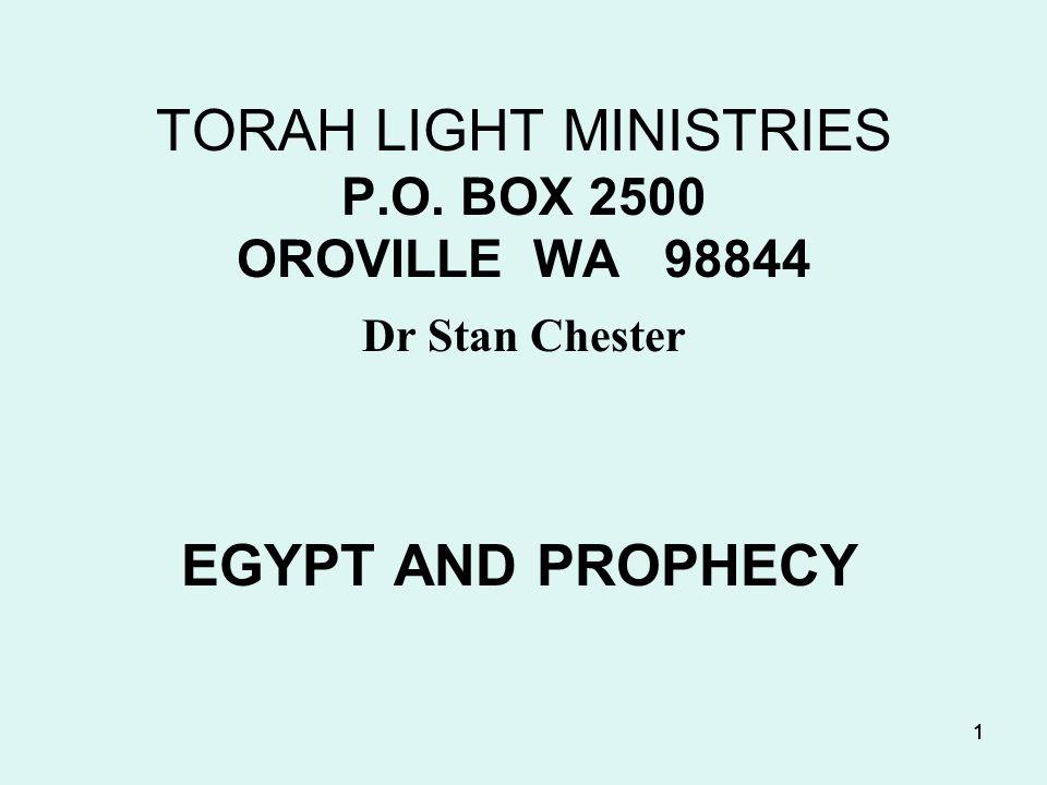 EGYPT & PROPHECY VI.Recap A. Steps that Egypt will pass through 1.