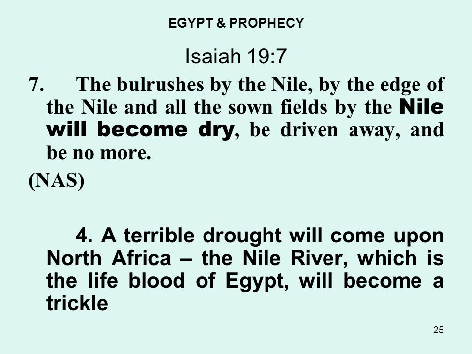 EGYPT & PROPHECY Isaiah 19:7 7.