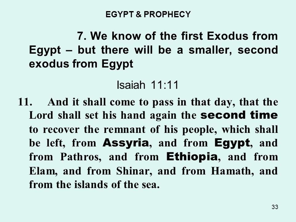 EGYPT & PROPHECY 7.