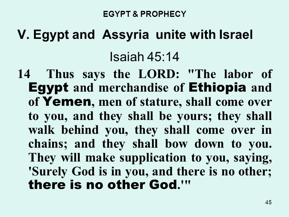 EGYPT & PROPHECY V.
